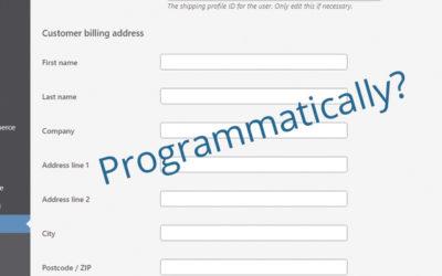 Programmatically Update User Billing Information